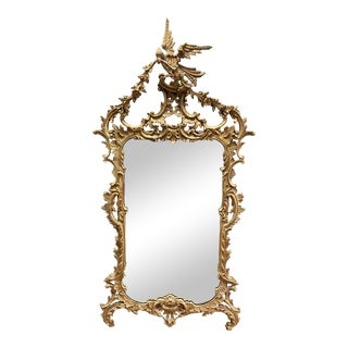 1960s Italian Style La Barge Gold Leaf Mirror For Sale