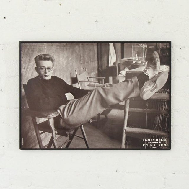 Mid-Century Modern James Dean Framed Poster For Sale - Image 3 of 3