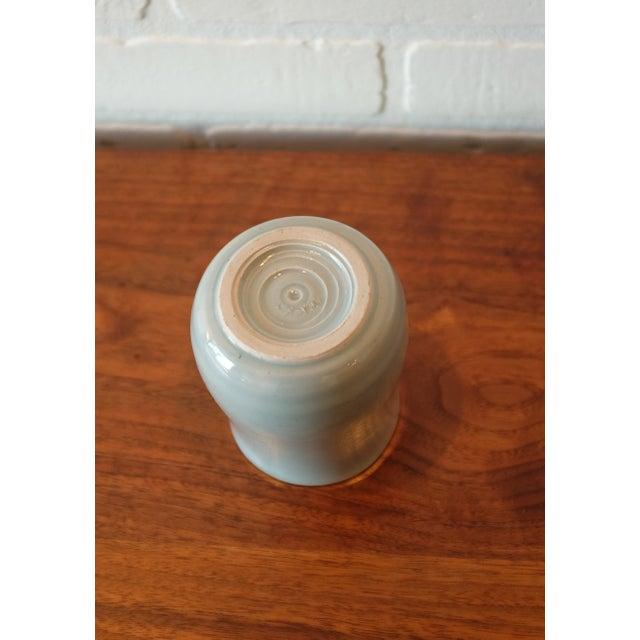 Handmade Baby Blue Studio Pottery Ceramic Vessel For Sale - Image 5 of 7