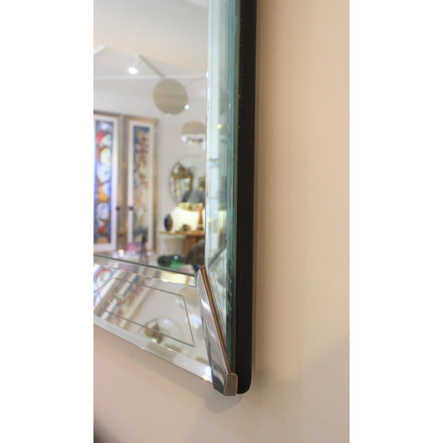 Metal Vintage American Art Deco Mirror For Sale - Image 7 of 12