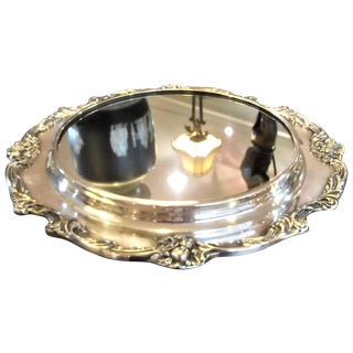 1920s Traditional King Francis Pattern Silver Plate Plateau For Sale
