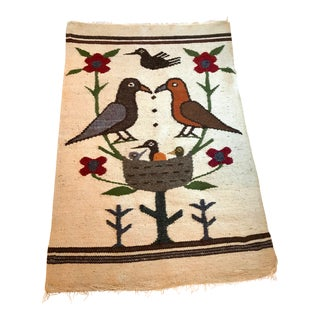 Vintage Mid Century Weaving Rug - For Sale