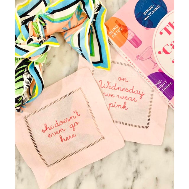 Traditional Mean Girls Cocktail Napkins, Set of Four For Sale - Image 3 of 4