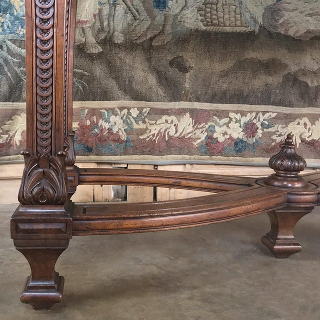 19th Century French Louis XIV Walnut Console For Sale - Image 9 of 13