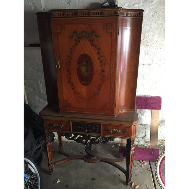 Antique Wood Cabinet - Image 2 of 7