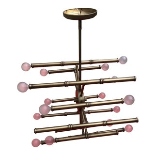 Late 20 Th Century Faux Bamboo Chandelier