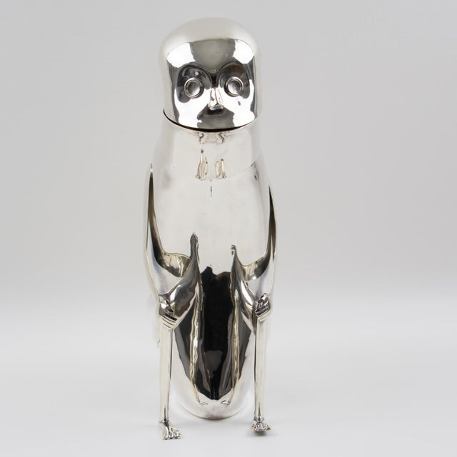 Traditional Los Castillo Silver Plate Metal Mexican Folk Art Monkey Pitcher For Sale - Image 3 of 13