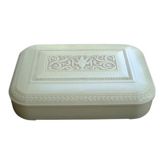 Flatware Box Silverware Chest Art Deco Cameo Urn For Sale