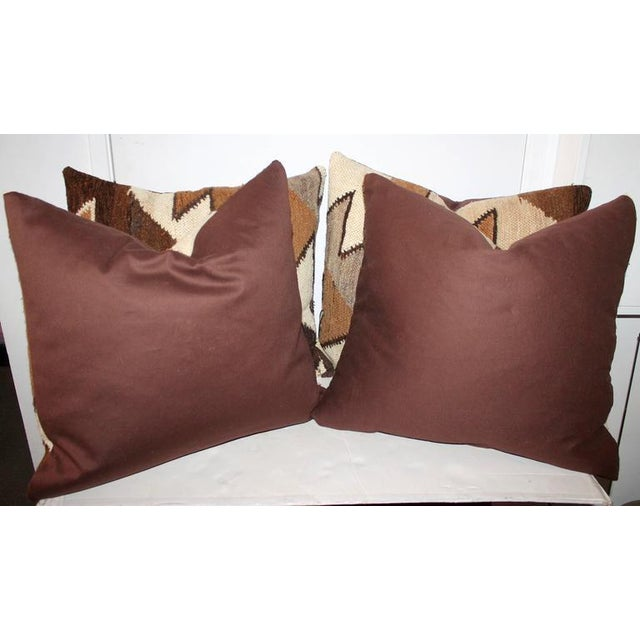 American Geometric Handwoven Indian Weaving Pillows For Sale - Image 3 of 5