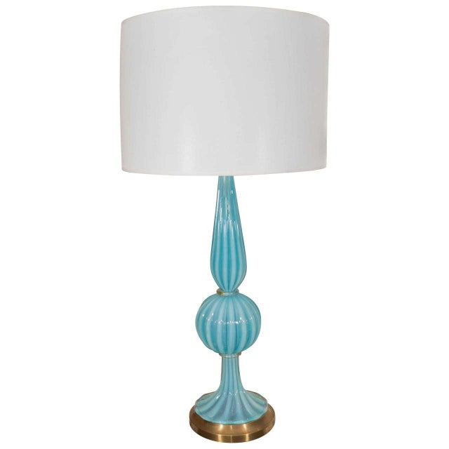 Blue Blue Murano Glass Lamp For Sale - Image 8 of 8