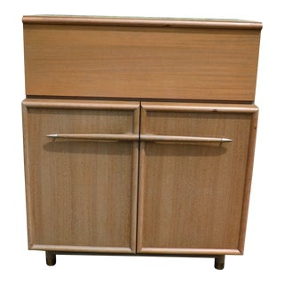 Vintage Mid Century Modern High Boy Dresser Chest of Drawers John Keal Brown Saltman For Sale