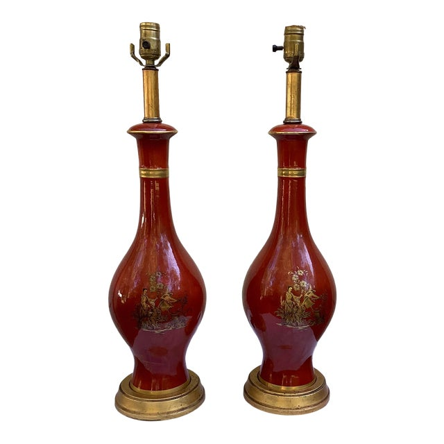 Frederick Cooper Chinoiserie Lamps, a Pair For Sale