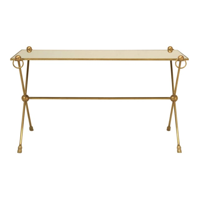 French Mid-Century Modern Coffee Table With Bronze Hoof Feet For Sale