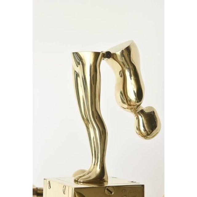Metal One of Kind Ernest Trova Polished Brass Falling Man Sculpture For Sale - Image 7 of 11