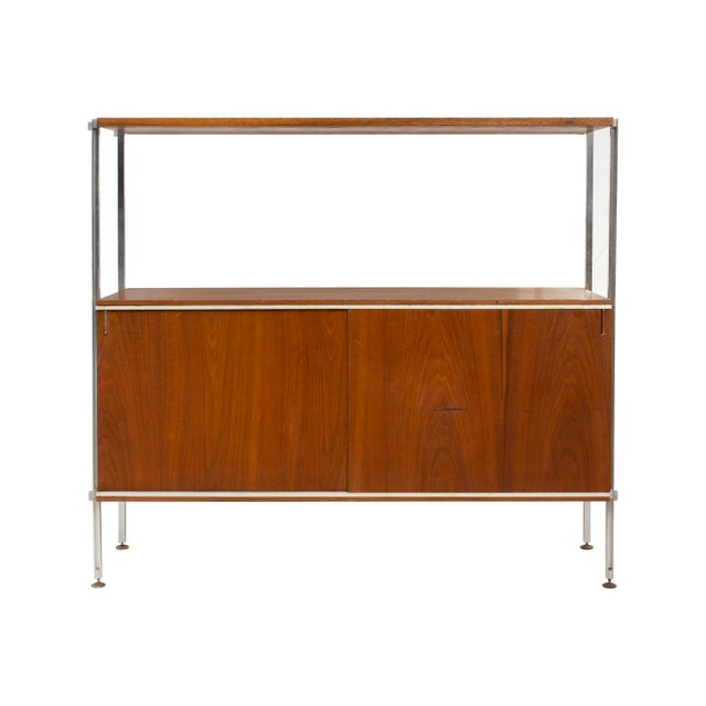 Walnut and Aluminum Cabinet by Hugh Acton For Sale - Image 13 of 13
