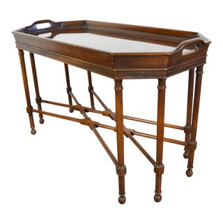 1900s Regency Drexel Tray Coffee Table For Sale
