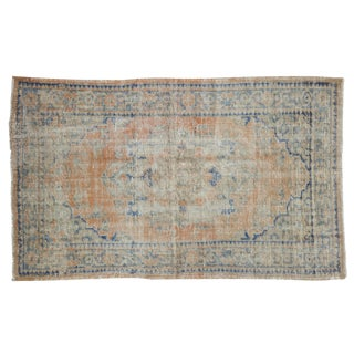 "Vintage Distressed Oushak Rug - 3' X 4'10"" For Sale"
