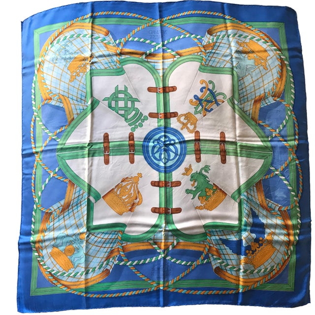 Late 20th Century Hermès the Silk Road Collection Silk Carrè Scarf For Sale - Image 5 of 5