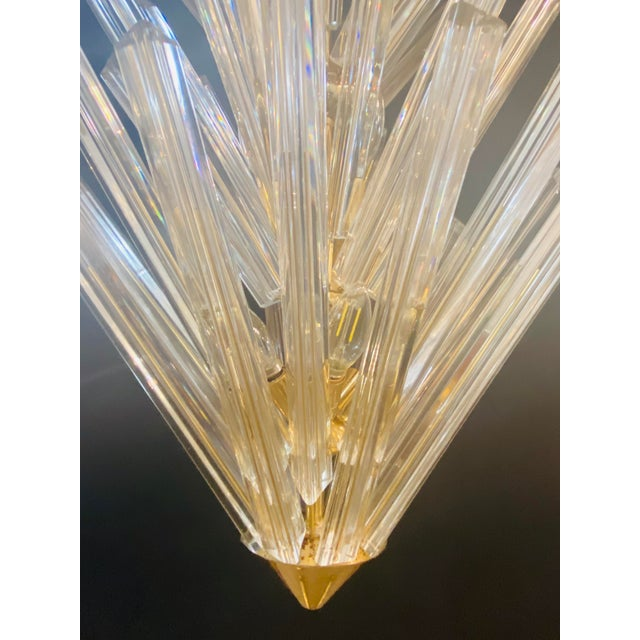 Mid-Century Modern Murano Starburst Chandelier by Camer, 1970's For Sale In New York - Image 6 of 13