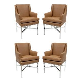 Milo Baughman Armchairs - Set of 4 For Sale