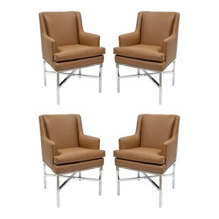 Milo Baughman Attributed Armchairs - Set of 4 For Sale