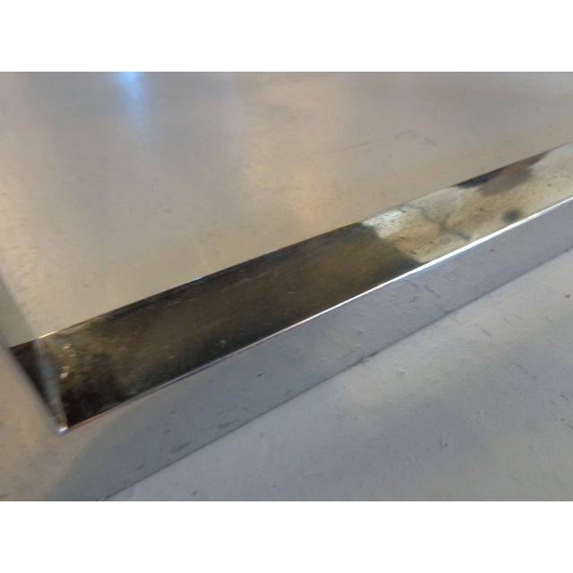 Long Chrome Bench - Image 4 of 6