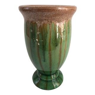 Tall Vintage Majolica Vase For Sale