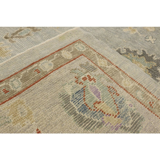 """Early 21st Century Contemporary Turkish Oushak Rug - 8'00"""" X 10'04"""" For Sale - Image 5 of 9"""