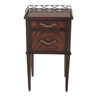 Theodore Alexander Althorp Collection Mahogany Nightstand For Sale