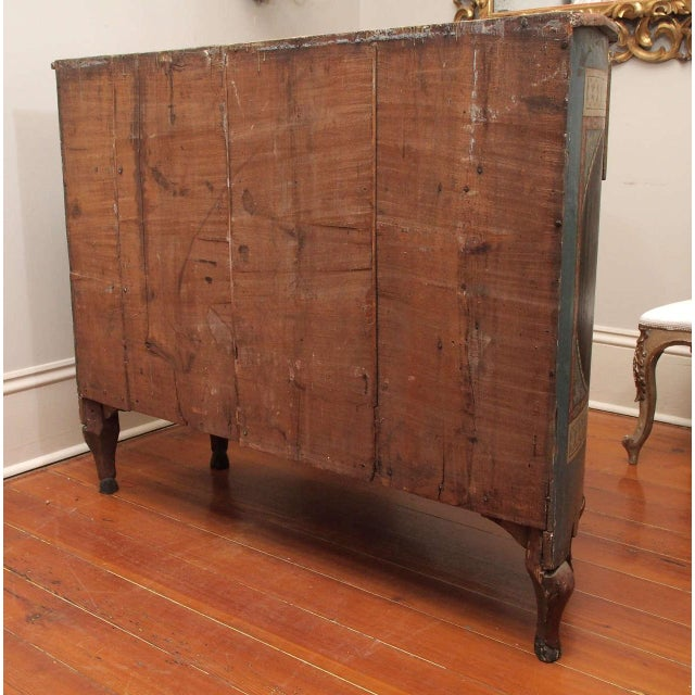 Rare, 18th Century Italian Demilune Commode For Sale - Image 10 of 10