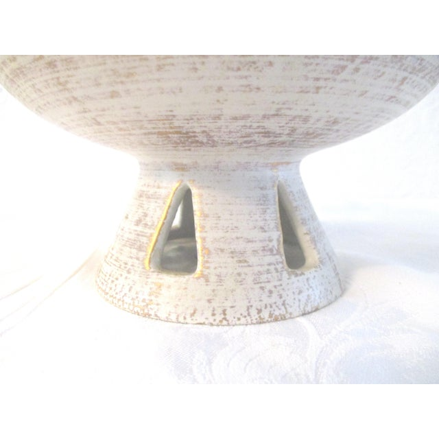 Danish Modern White & Gold Vase & Bowl For Sale In West Palm - Image 6 of 10