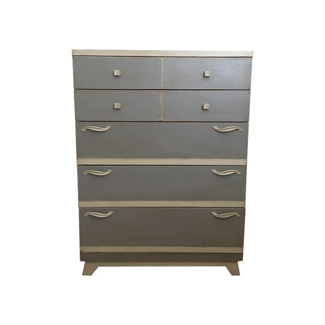 Gray Mid-Century Chest Dresser - Image 1 of 5