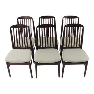 Vintage Rosewood Danish Modern Dining Chairs- Set of 6 For Sale
