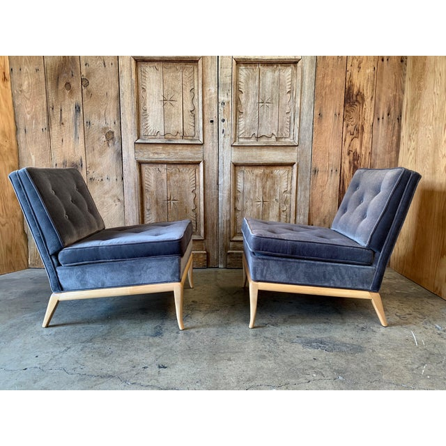 Mid-Century Modern Vintage Mid Century Slipper Chairs- A Pair For Sale - Image 3 of 6