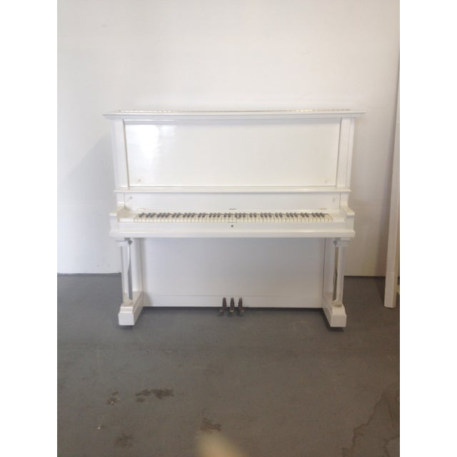 Vintage Lacquered White Piano - Image 2 of 10