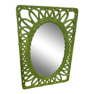 Vintage 1960's Green Wall Hanging Frame For Sale