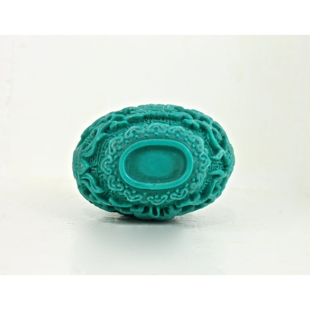 Chinese Carved Turquoise Snuff Bottle - Image 5 of 6