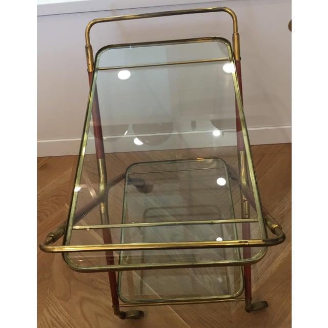1950s Italian Cesare Lacca Bar Cart Server For Sale - Image 9 of 11