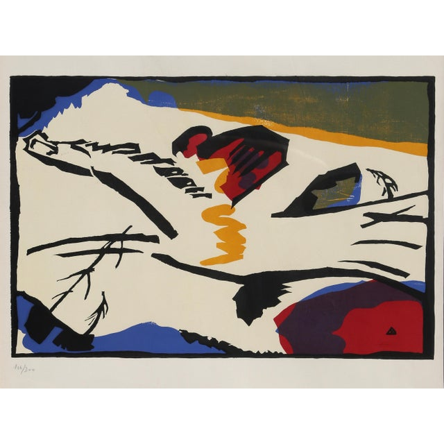 Artist: Wassily Kandinsky, After, Russian (1866 - 1944) Title: Lyrisches Year of Original: 1911 | Printed: circa 1960...