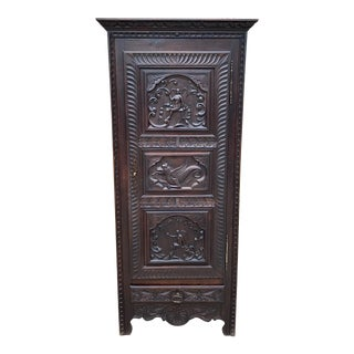 Antique French Bonnetiere Cabinet Wardrobe For Sale