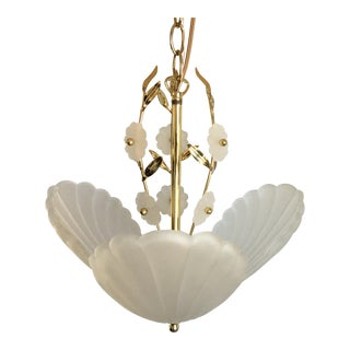 Midcentury Italian Shell Chandelier For Sale
