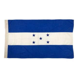 Mid Century Sewn Cotton Flag of Honduras For Sale
