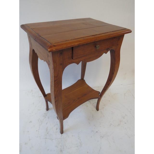 Antique Oak Side Table - Image 2 of 7