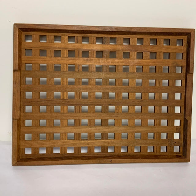 Dansk teak tray and trivets. This is a classic Scandinavian piece for your kitchen.