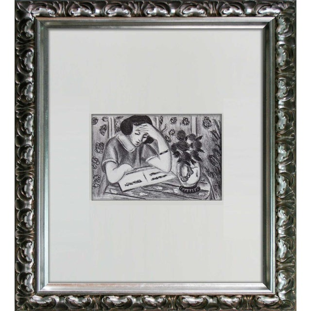 Limited Edition Lithograph, by Henri Matisse, Wove paper.. Size: 43 x 35cm. Titled: Jeune Fille Lisant (Young Girl...