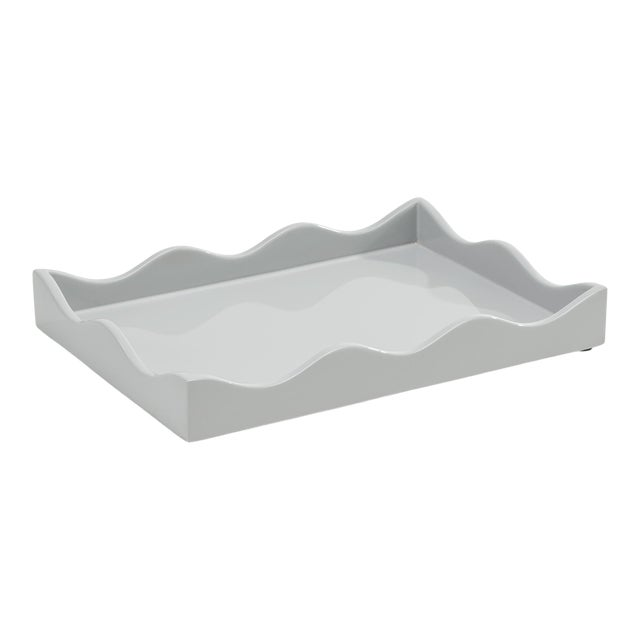 Small Belles Rives Tray in Pale Grey - Rita Konig for The Lacquer Company For Sale