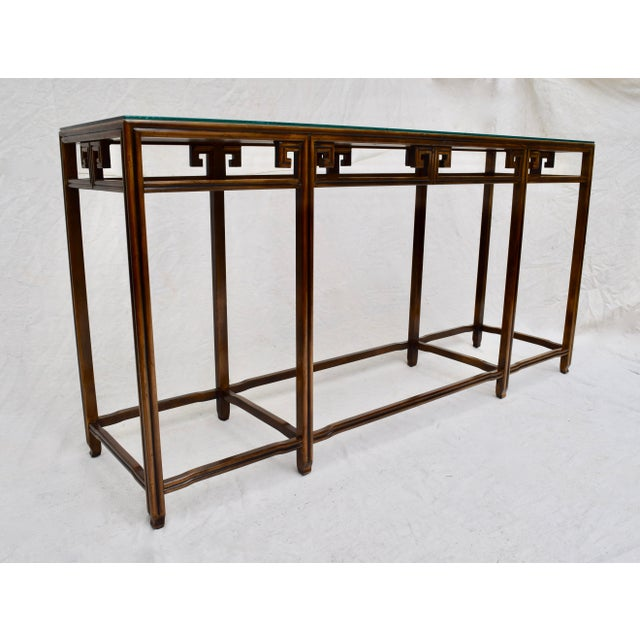 """Chestnut Baker Burlwood Console Table, """"Far East"""" Collection"""" For Sale - Image 8 of 13"""