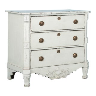 Antique 19th Century Danish Chest of Drawers For Sale