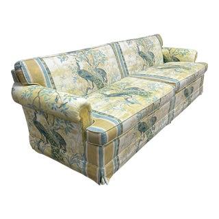 Vintage Henredon Schoonbeck Peacock Chinoiserie Sofa For Sale