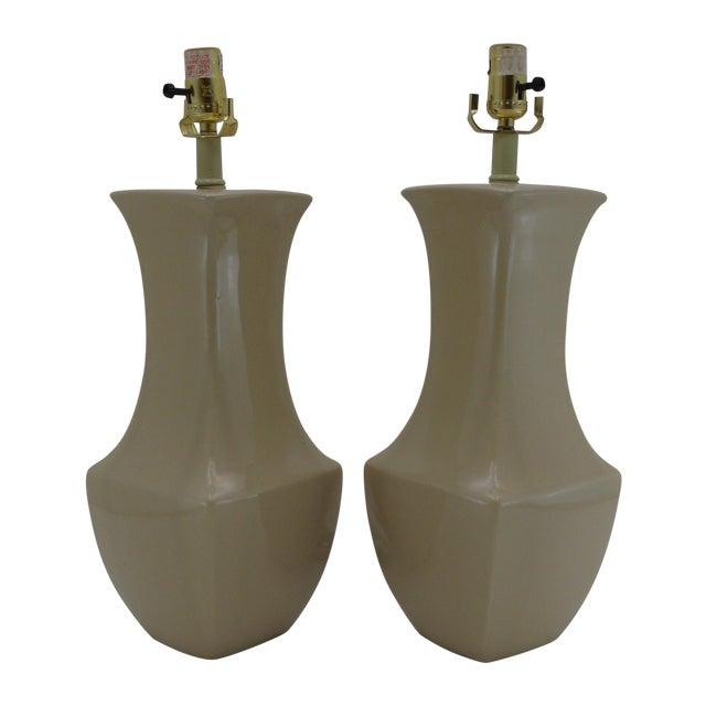 Vintage Porcelain Table Lamps - A Pair - Image 1 of 6